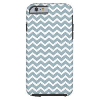Powder Blue Chevrons Pattern iPhone 4 Case-Mate Cases