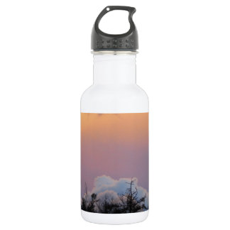 Powder blue clouds in a purple sky water bottle