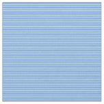 [ Thumbnail: Powder Blue & Cornflower Blue Colored Lines Fabric ]