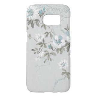 Powder Blue Country Floral Dogwood Samsung Galaxy S7 Case