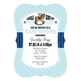 Powder Blue Cowboy Baby Shower Invitation