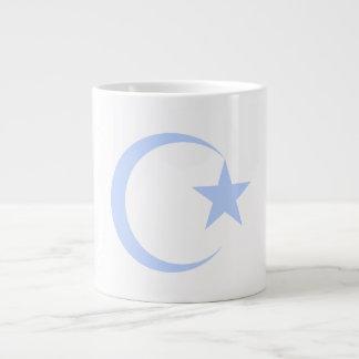 Powder Blue Crescent & Star.png Large Coffee Mug