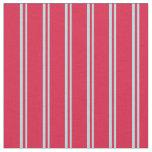 [ Thumbnail: Powder Blue & Crimson Lined/Striped Pattern Fabric ]