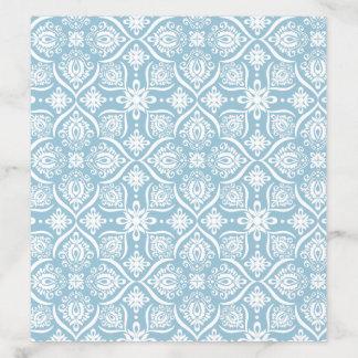 Powder Blue Damask Pattern Envelope Liner