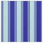 [ Thumbnail: Powder Blue & Dark Blue Colored Stripes Fabric ]