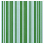 [ Thumbnail: Powder Blue & Dark Green Colored Lines Fabric ]