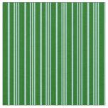 [ Thumbnail: Powder Blue & Dark Green Colored Lines Pattern Fabric ]
