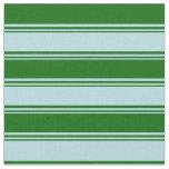[ Thumbnail: Powder Blue & Dark Green Colored Stripes Fabric ]