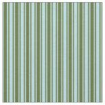 [ Thumbnail: Powder Blue & Dark Olive Green Lines Fabric ]