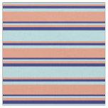 [ Thumbnail: Powder Blue, Dark Salmon & Midnight Blue Colored Fabric ]