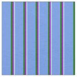 [ Thumbnail: Powder Blue, Dark Violet, Green & Cornflower Blue Fabric ]