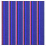 [ Thumbnail: Powder Blue, Deep Pink, Black, Blue, and Dark Blue Fabric ]
