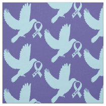 Powder Blue Dove of Hope Fabric