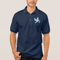 Powder Blue Dove of Hope Polo Shirt
