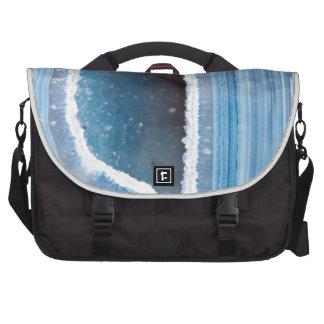 Powder Blue Geode Druzy Bags For Laptop