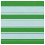 [ Thumbnail: Powder Blue & Green Colored Striped/Lined Pattern Fabric ]