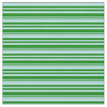 [ Thumbnail: Powder Blue & Green Colored Stripes/Lines Pattern Fabric ]