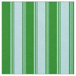 [ Thumbnail: Powder Blue & Green Striped/Lined Pattern Fabric ]