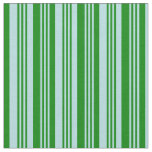 [ Thumbnail: Powder Blue & Green Stripes Fabric ]
