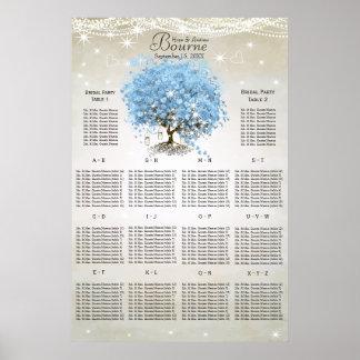 Powder Blue Heart Leaf Tree Seating Chart