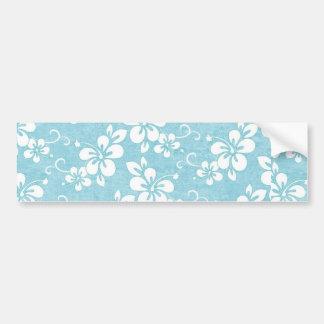 Powder Blue Hibiscus Flower Bumper Sticker