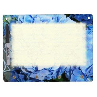 Powder Blue Hydrangea Dry Erase Whiteboard