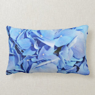 Powder Blue Hydrangea Pillow