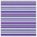 [ Thumbnail: Powder Blue & Indigo Colored Lines Fabric ]