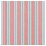 [ Thumbnail: Powder Blue & Light Coral Lines Pattern Fabric ]