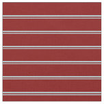 [ Thumbnail: Powder Blue & Maroon Colored Lines Pattern Fabric ]