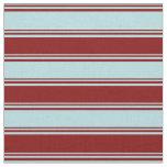 [ Thumbnail: Powder Blue & Maroon Pattern of Stripes Fabric ]