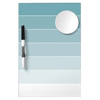 Powder Blue Ombré Stripes Dry-Erase Boards