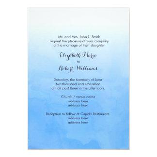 Powder Blue Ombre Watercolor Card