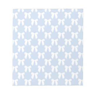 Powder Blue Pastel With White Bows Memo Note Pad