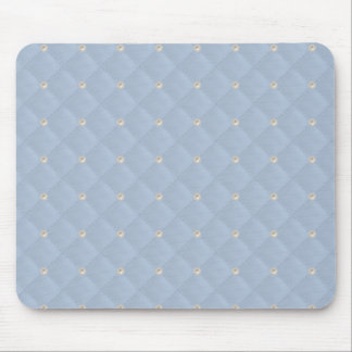 Powder Blue Pearl Stud Quilted Mouse Pad