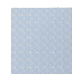 Powder Blue Pearl Stud Quilted Note Pad