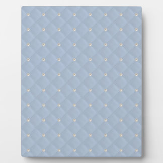 Powder Blue Pearl Stud Quilted Display Plaques