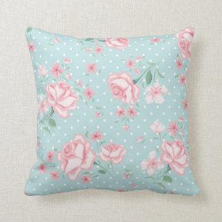 powder blue,pink,polka dot,floral,vintage,shabby pillows