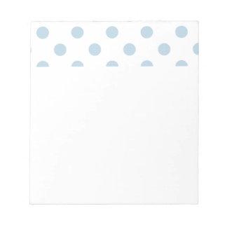 powder blue ,polka dot,white,cute,girly,trendy,fun memo notepad
