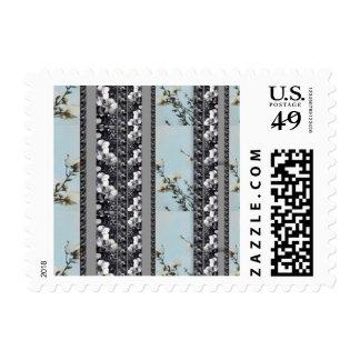 Powder Blue Poppy Multi Black Orchid Stripe Stamps