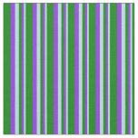 [ Thumbnail: Powder Blue, Purple & Green Colored Lines Fabric ]