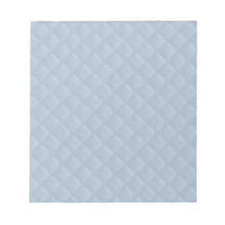 Powder Blue Quilted Leather Note Pad