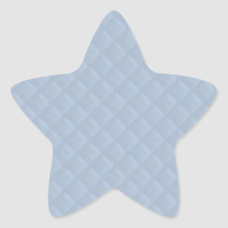 Powder Blue Quilted Leather Star Sticker