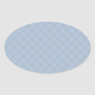 Powder Blue Quilted Leather Oval Sticker