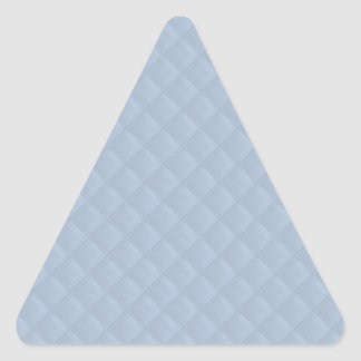Powder Blue Quilted Leather Triangle Sticker