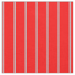[ Thumbnail: Powder Blue & Red Colored Lines Fabric ]