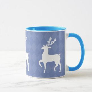 Powder Blue Reindeer Christmas Mug