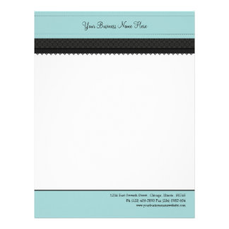 Powder Blue Ribbon Business Letterhead