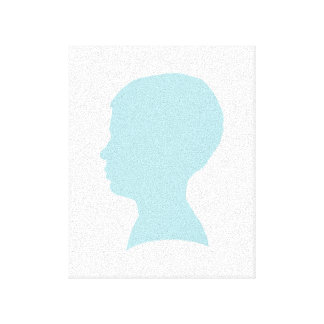 Powder Blue Silhouette Stretched Canvas Print