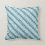 [ Thumbnail: Powder Blue & Slate Gray Pattern of Stripes Pillow ]